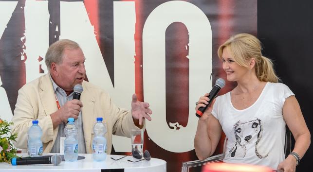 Jerzy Stuhr i Grażyna Torbicka na Festiwalu Filmu i Sztuki Dwa Brzegi