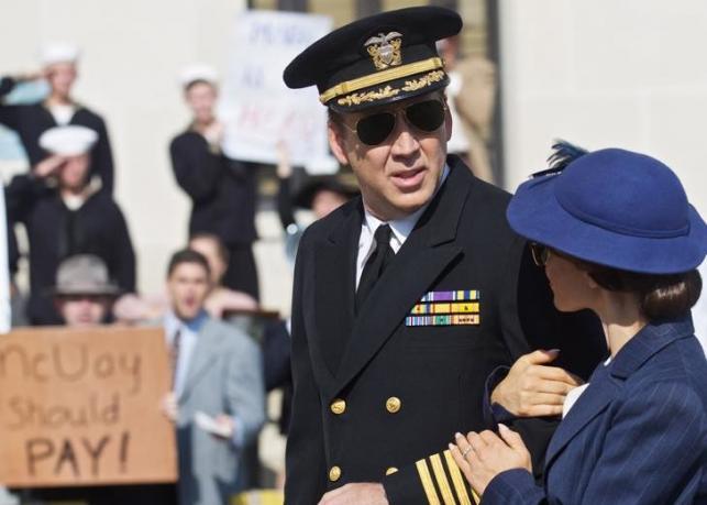 "Weronika Rosati i Nicolas Cage na planie ""USS Indianapolis: Man of Courage"""