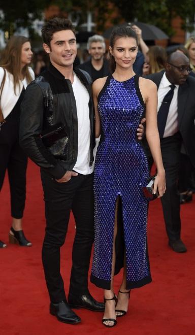 Emily Ratajkowski i Zac Efron na premierze w Londynie