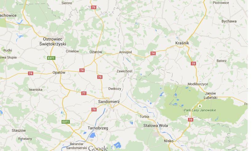 Wisła zniknęła z map Google\'a