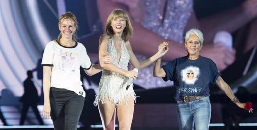 Julia Roberts i Joan Baez zaskoczyły Taylor Swift