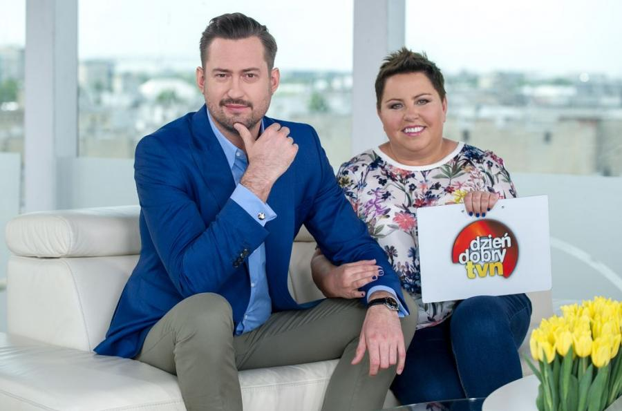 Marcin Prokop i Dorota Wellman w \