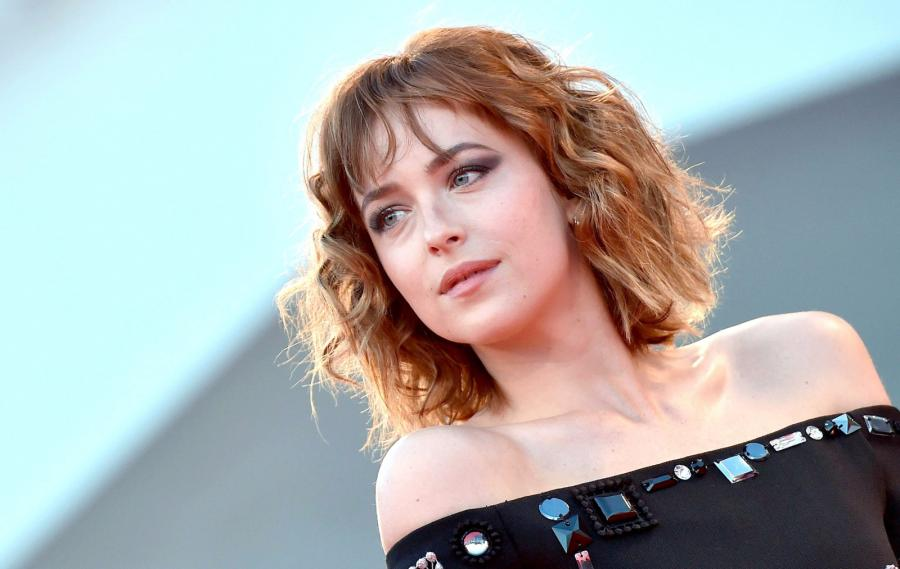 "Dakota Johnson na premierze ""A bigger splash"""