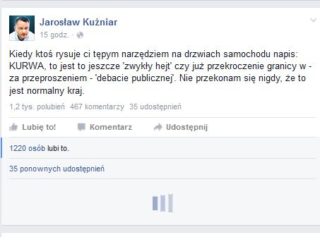post Jarosława Kuźniara