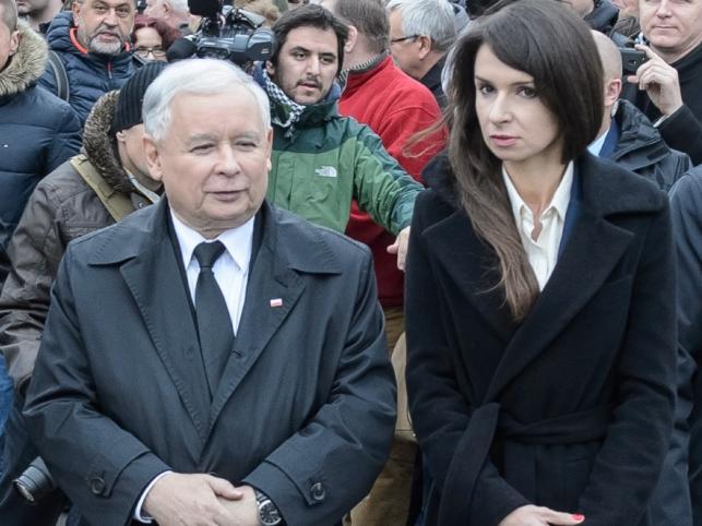 Jarosław Kaczyński i Marta Kaczyńska