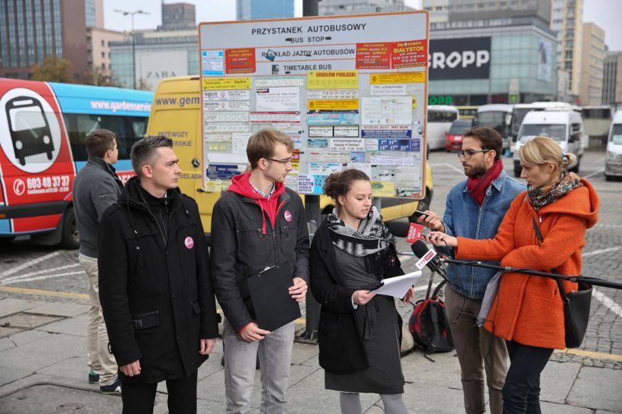 Partia Razem na konferencji w Warszawie