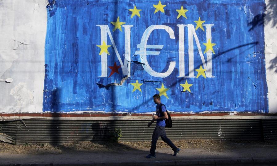 Antyunijne graffiti w Atenach