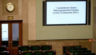 Sala Sejmu - piewsze posiedzenie nowego Sejmu