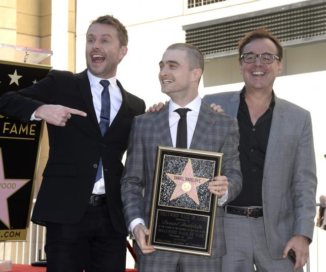 Daniel Radcliffe, Chris Hardwick i Chris Columbus