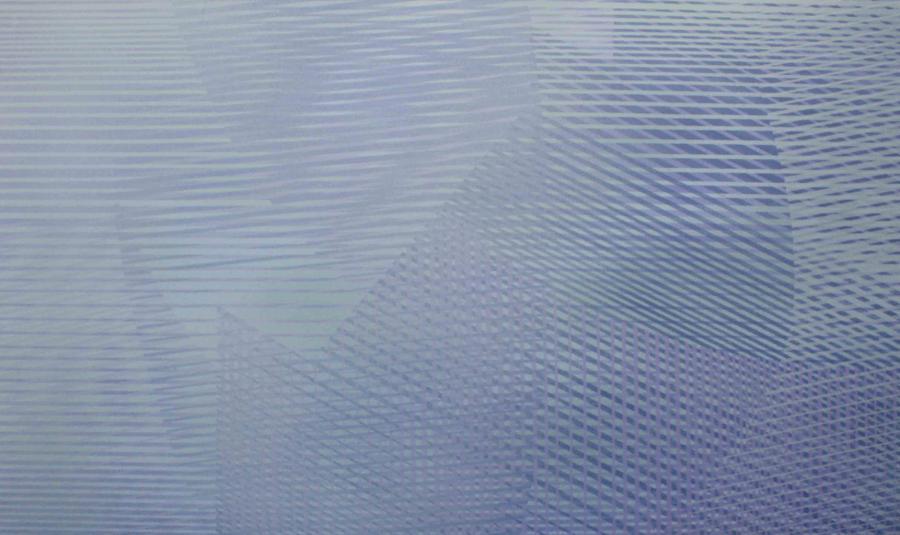 Interferencje IV, akryl na płótnie, 150x90 cm