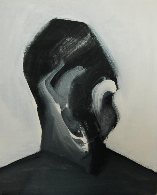 """""""Szkice do portretu 1"""", Cezary Bednarczyk, olej na płótnie, 50x40 cm"""