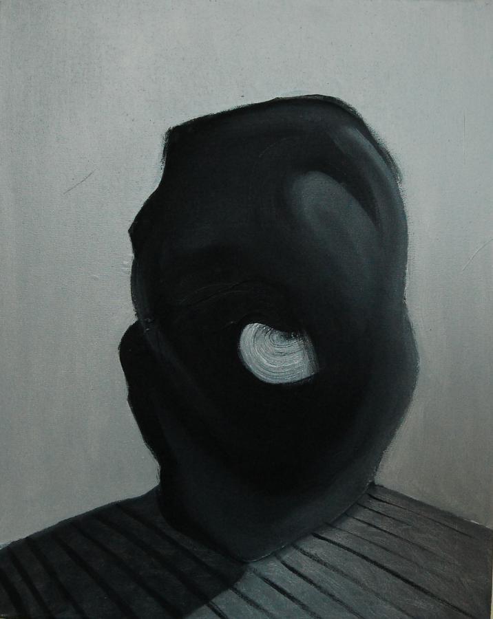 """""""Szkice do portretu 5"""", Cezary Bednarczyk, olej na płótnie, 50x40 cm"""