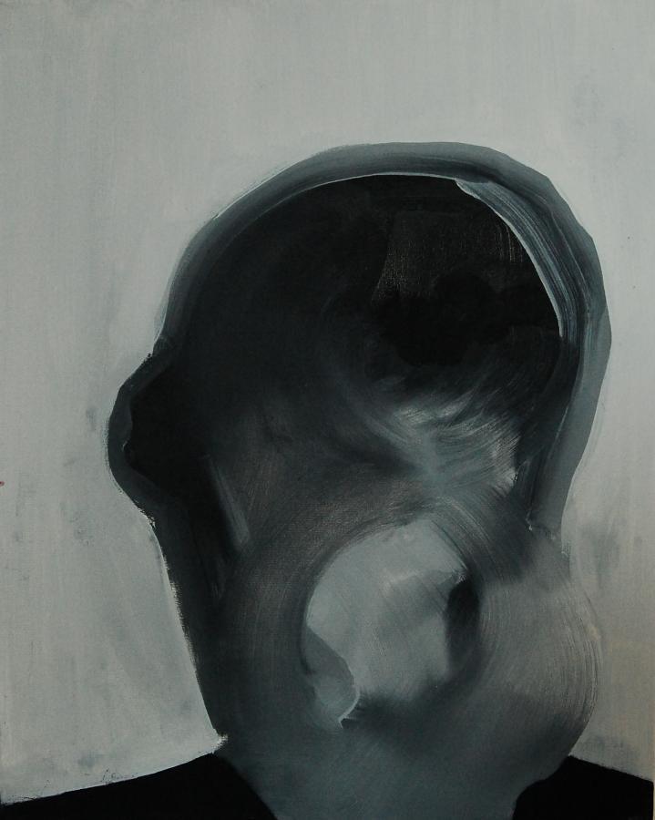 """""""Szkice do portretu 24"""", Cezary Bednarczyk, olej na płótnie, 50x40 cm"""