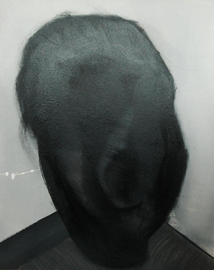 """""""Szkice do portretu 39"""", Cezary Bednarczyk, olej na płótnie, 50x40 cm"""