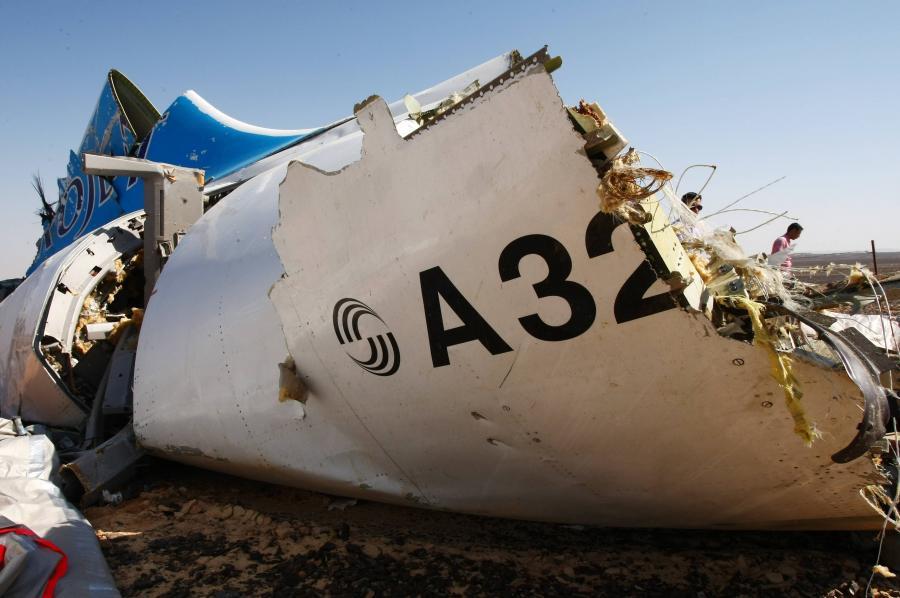 Szczątki rosyjskiego airbusa A321