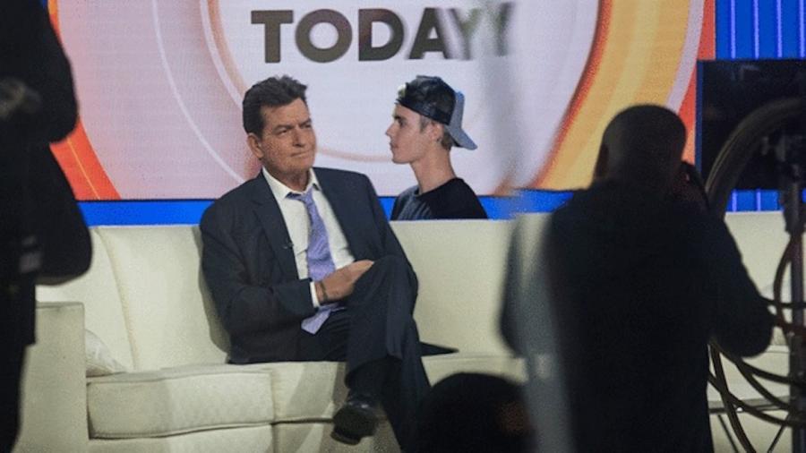 Justin Bieber z dala od Charliego Sheena