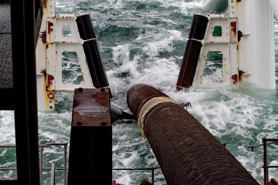 Instalacja podwodnego gazociągu