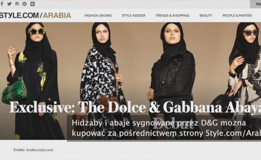 Dolce i Gabbana projektują dla muzułmanek