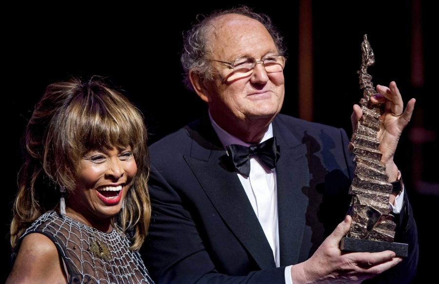 Tina Turner i Joop van den Ende na gali Dutch Musical Awards