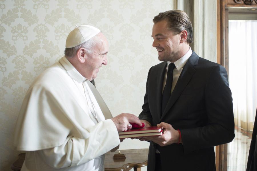 Leonardo DiCaprio z prywatną wizytą u papieża