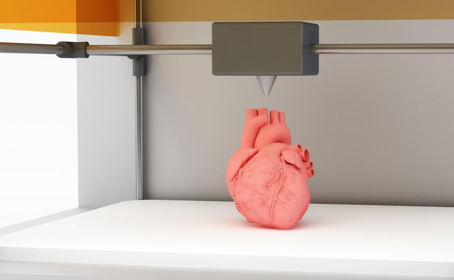 Dukarka 3d drukuje serce