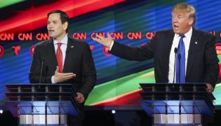 Senator Marco Rubio i miliarder Donald Trump atakują się w czasie debaty