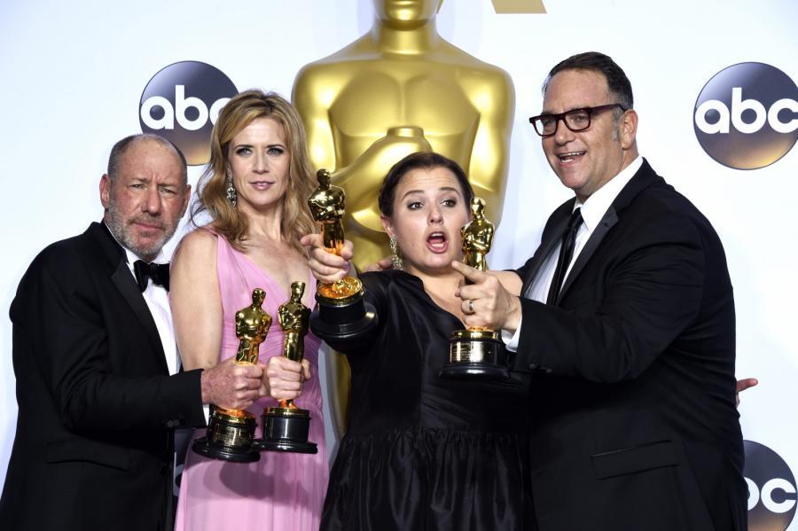 "Oscary 2016 – najlepszy film: ""Spotlight"", Michael Sugar, Steve Golin, Nicole Rocklin, Blye Pagon Faust"