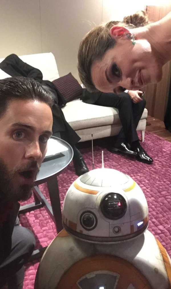 Jared Leto, Jennifer Garner i BB-8