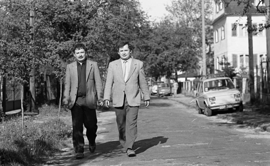 Lech Kaczyński i Jarosław Kaczyński w 1989 roku