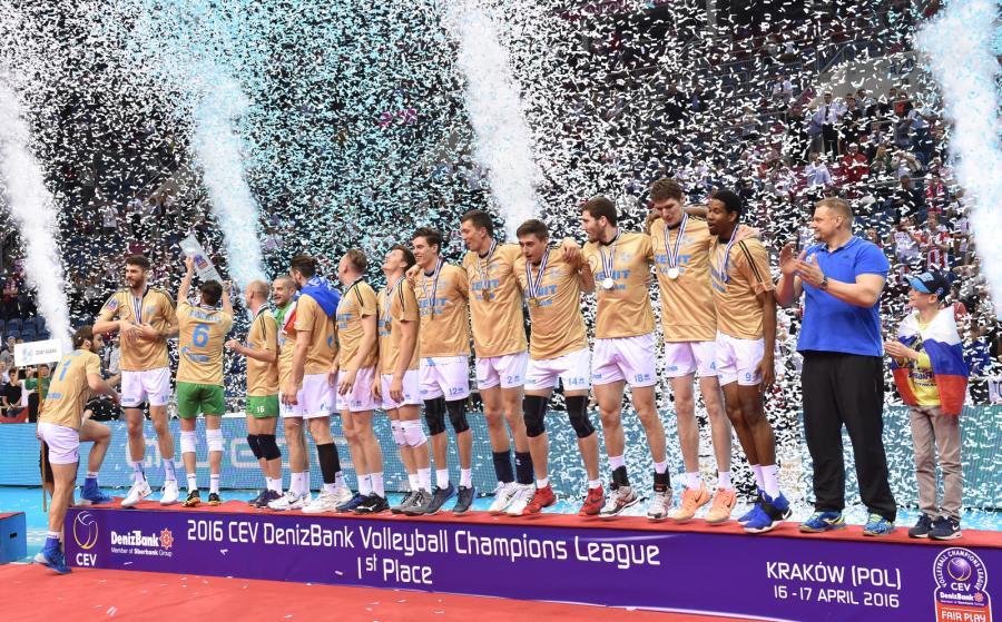 Drużyna Zenitu Kazań zajęła pierwsze miejsce w turnieju Final Four Ligi Mistrzów siatkarzy rozegranym w Tauron Arenie Kraków
