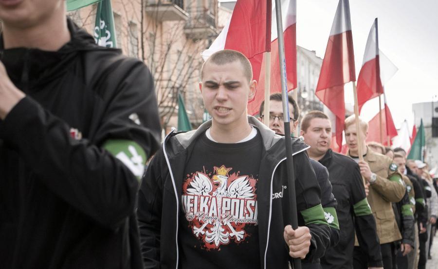 Marsz ONR na ulicach Białegostoku