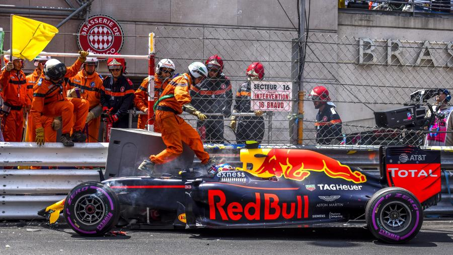 Max Verstappen rozbił bolid podczas kwalifikacji w Monte Carlo
