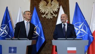 Macierewicz i Stoltenberg na Konferencji Prasowej
