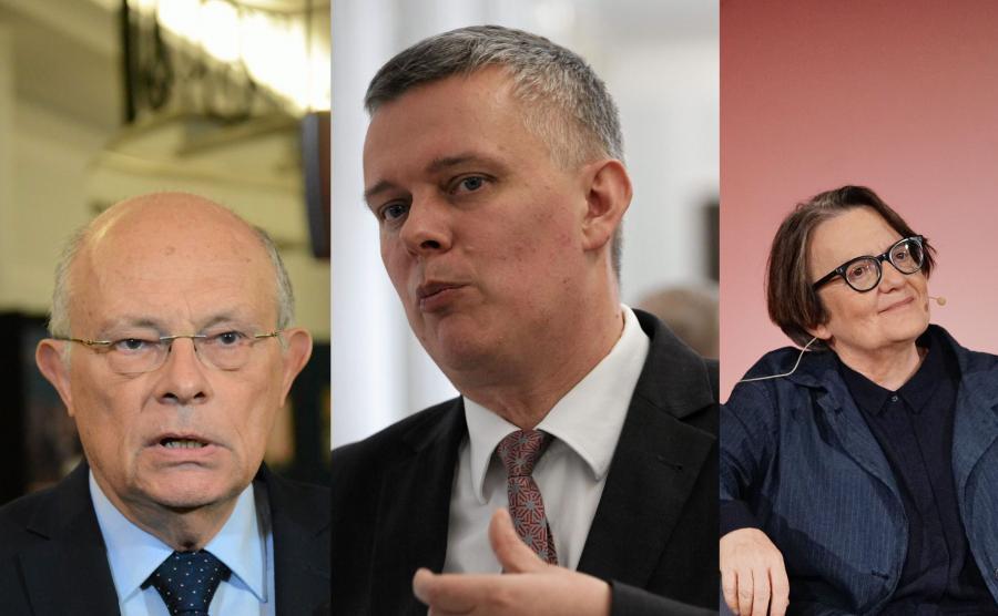 Tomasz Siemoniak, Marek Borowski i Agnieszka Holland