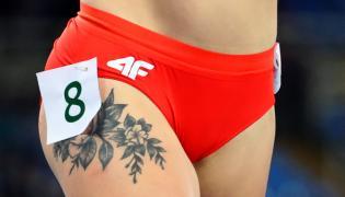 Ewa Swoboda w eliminacjach zaprezentowała dobrą formę i... swoje tatuaże