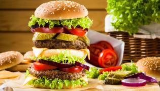 Fast food, hamburger