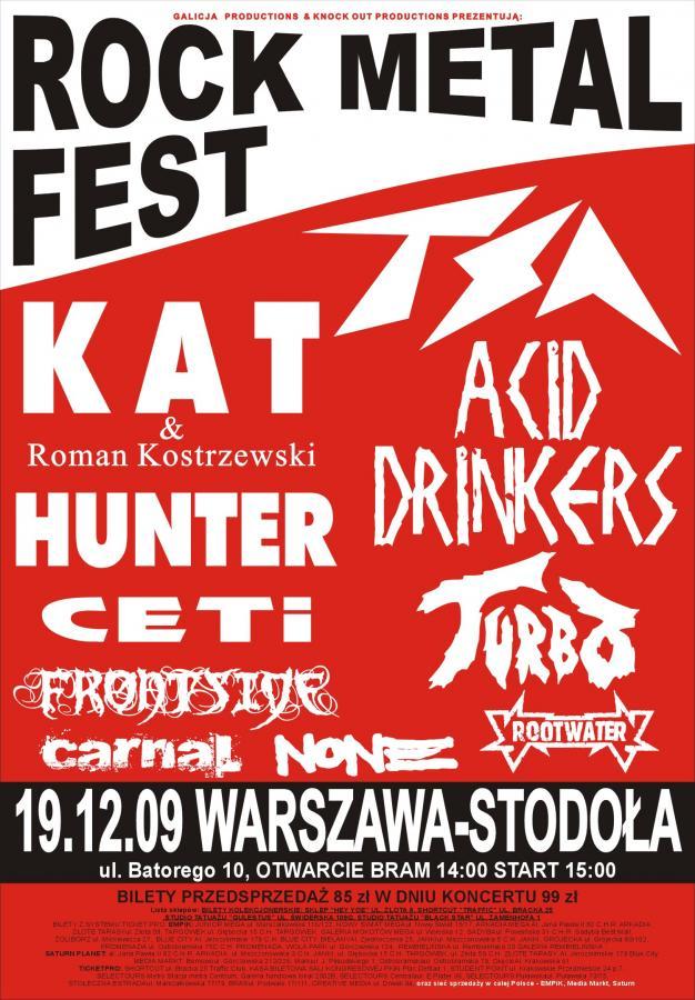 Rock Metal Fest 19 grudnia w Warszawie