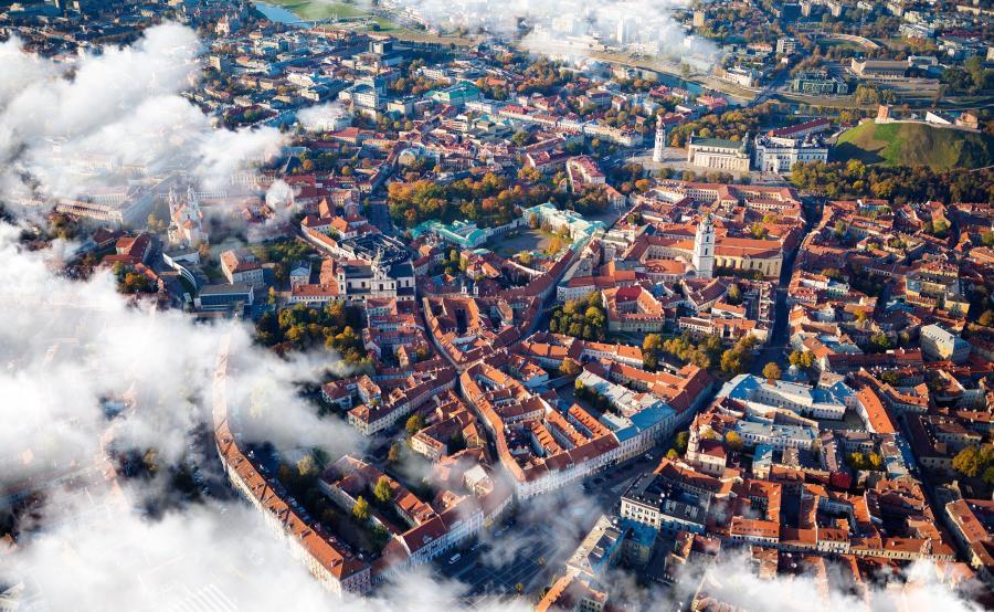 Litwa. Wilno z lotu ptaka