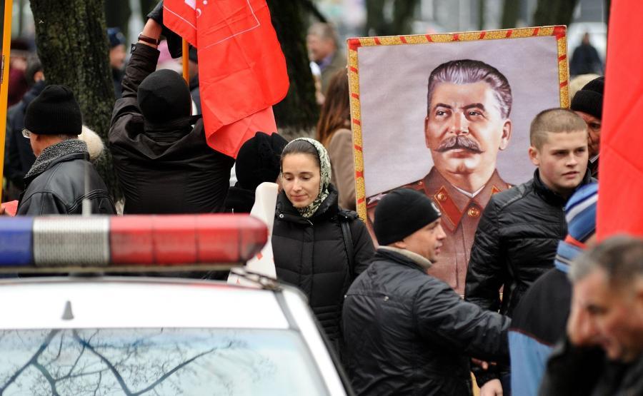 Manifestacja rosyjskich komunistów
