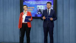 Ryszrd Petru i Katarzyna Lubnauer