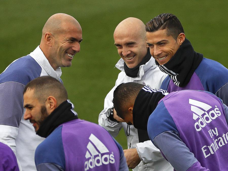 Zinedine Zidane, David Bettoni i Cristiano Ronaldo