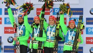 Vanessa Hinz, Maren Hammerschmidt, Franziska Preuss i Laura Dahlmeier
