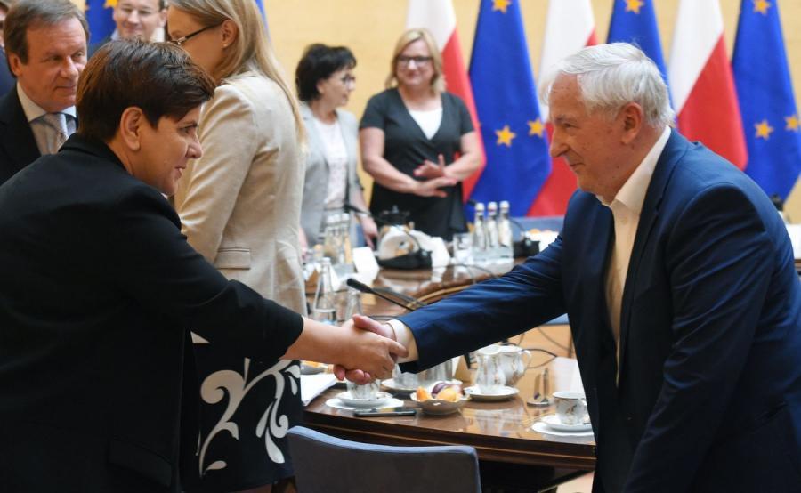 Beata Szydło i Stanisław Gomułka