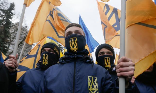 Marsz nacjonalistów w Kijowie. \