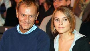 Donald Tusk z córką Kasią