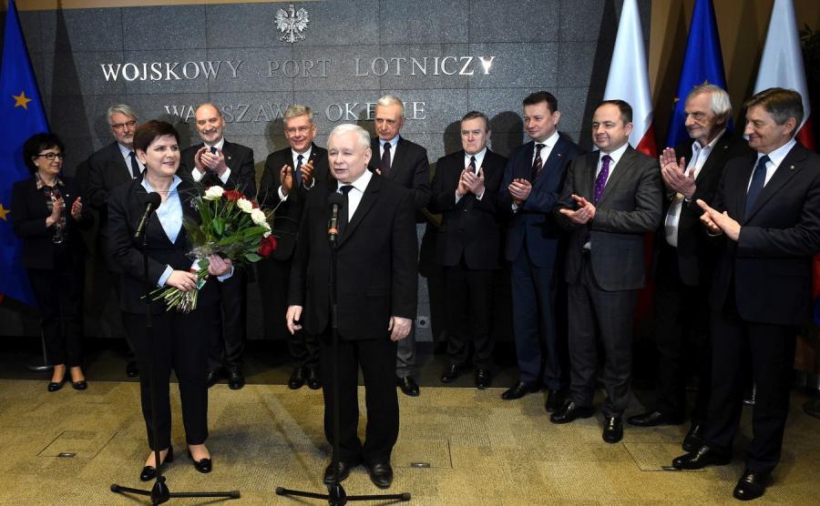 Beata Szydło, Jarosław Kaczyński i ministrowie