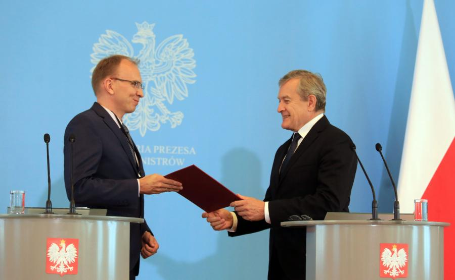 Radosław Domagalski-Łabędzki i Piotr Gliński