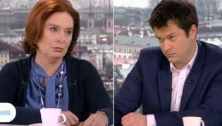 """Małgorzata Kidawa-Błońska i Marek Pyza w """"Kwadransie politycznym"""" w TVP"""